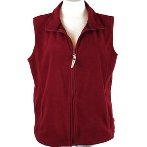 Woolrich Full Zip Crimson Fleece Vest